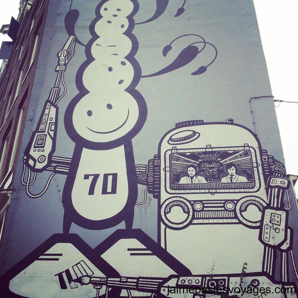 Un graffiti à Amsterdam