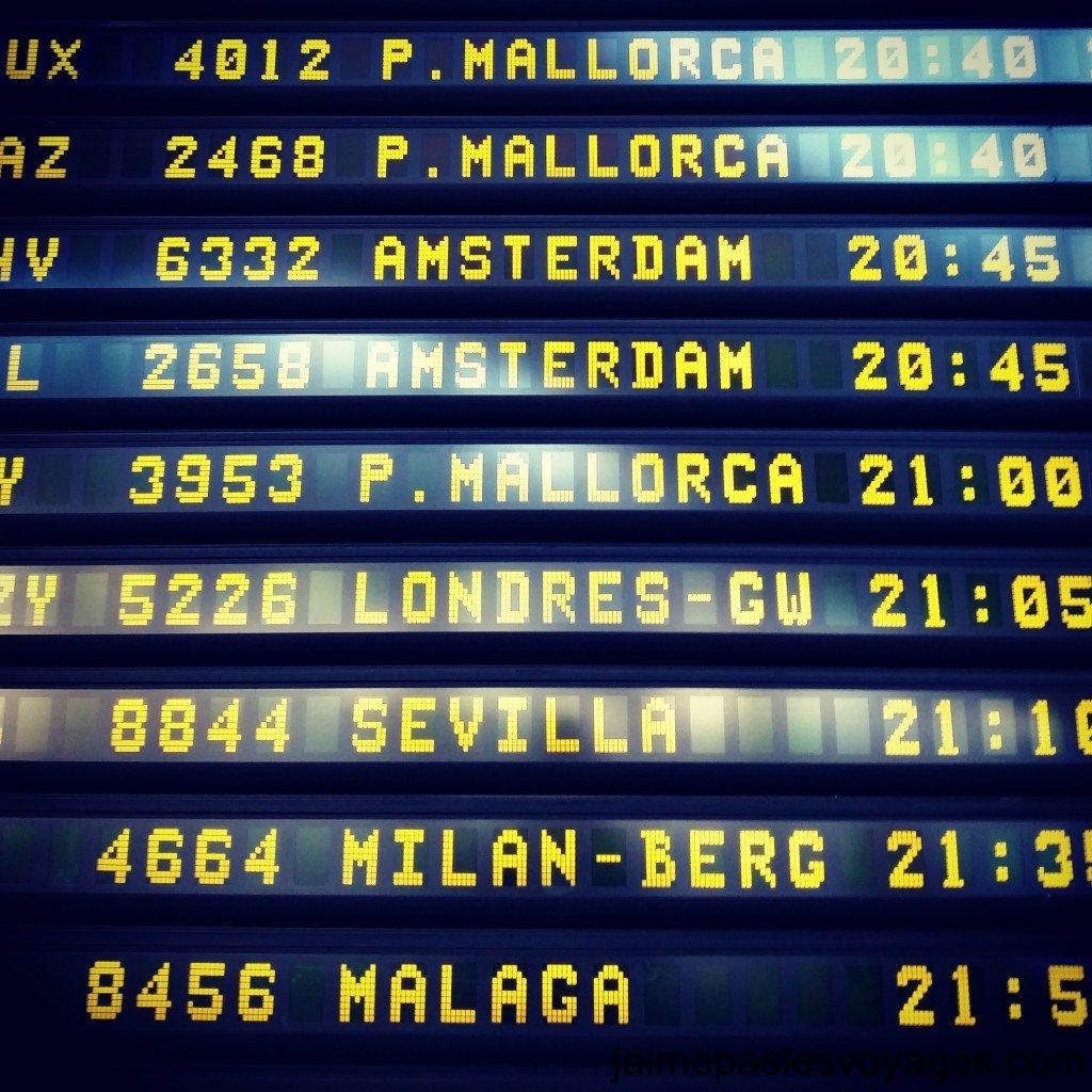 affichage aeroport
